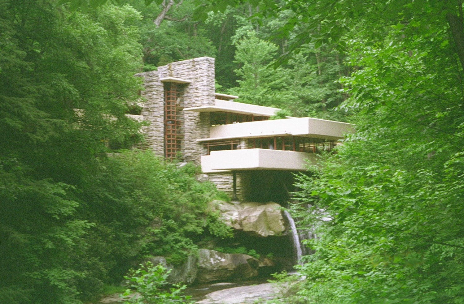 Large Fallingwater Photos Lookout View 2 Frank Lloyd