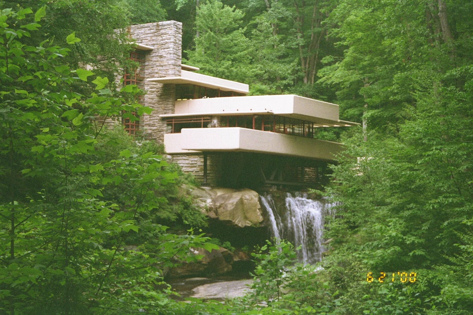 Pin Falling Water House Frank Lloyd Wright 1935 1939 On