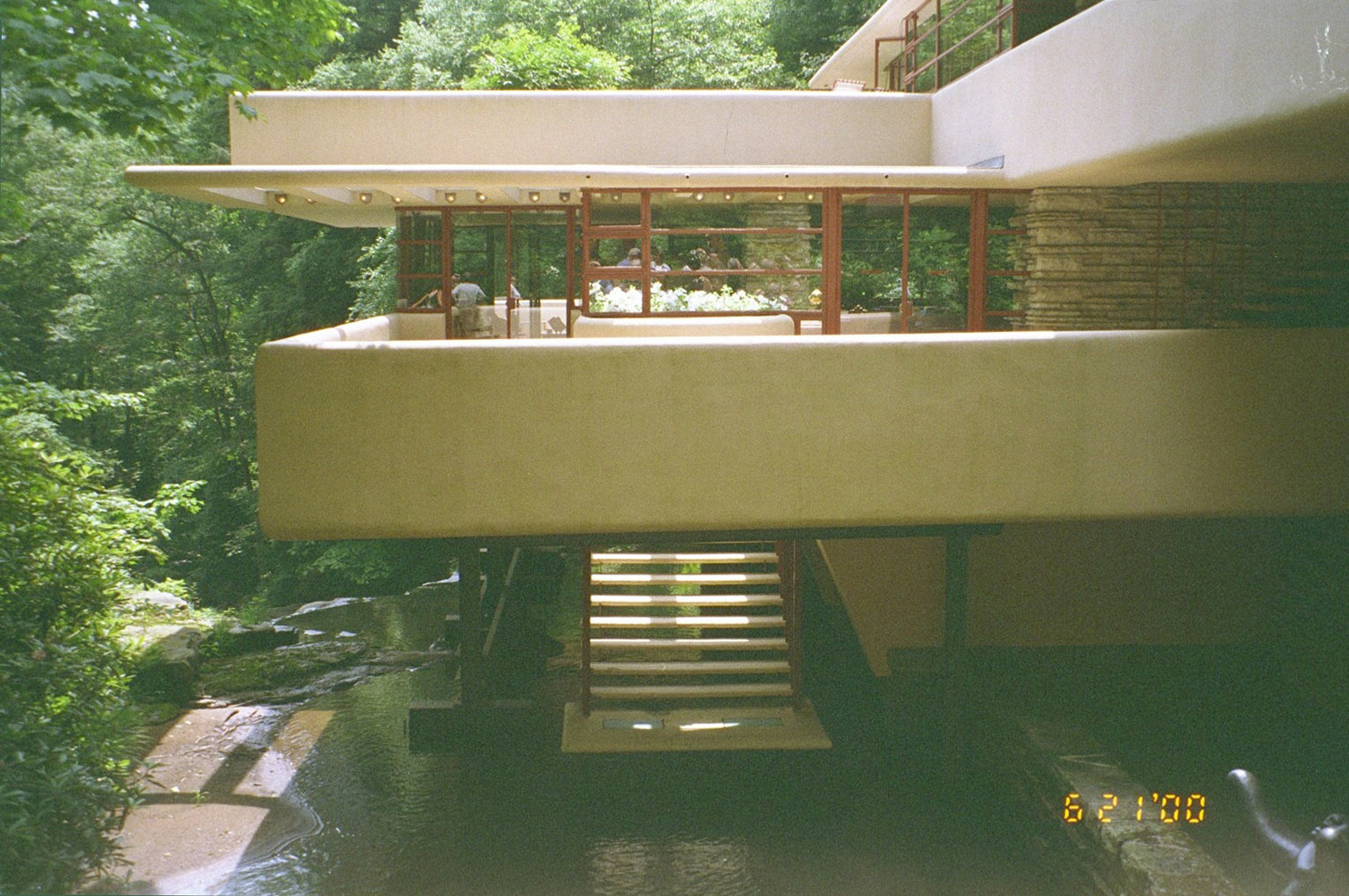 Fallingwater Pictures: Sunlight U0026 Stairs Flow Downward From Hatchway (Frank  Lloyd Wright House Above Waterfall)