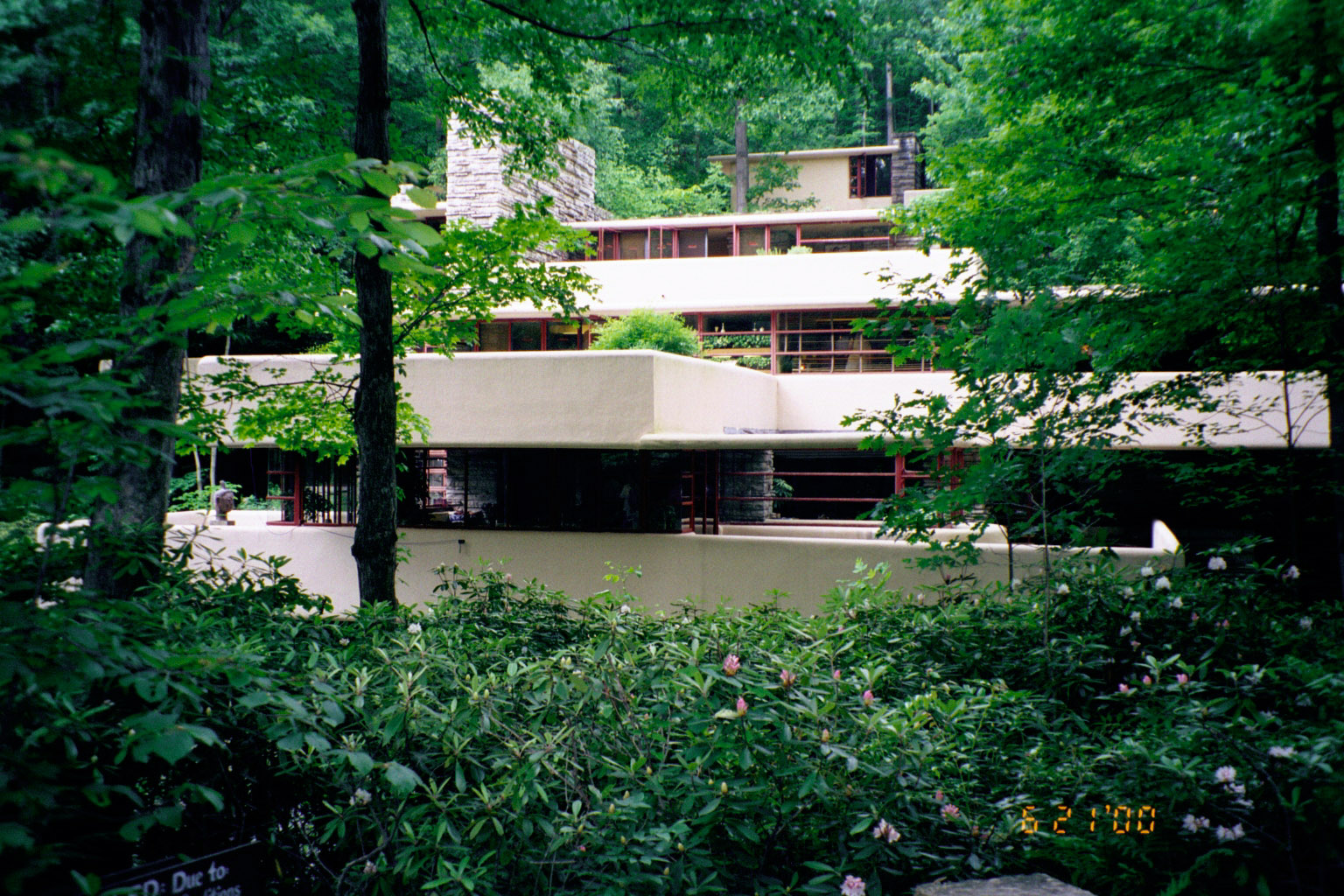Fallingwater elevation from south southeast