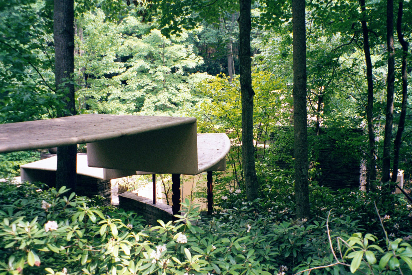 Fallingwater pictures: Covered walk (Frank Lloyd Wright ...