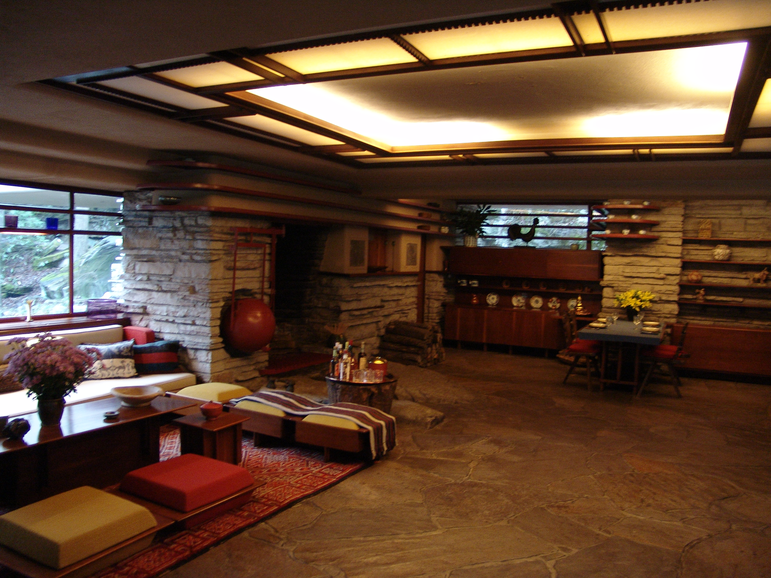 Superior [Fallingwater Living Room And Dining Area] Part 11