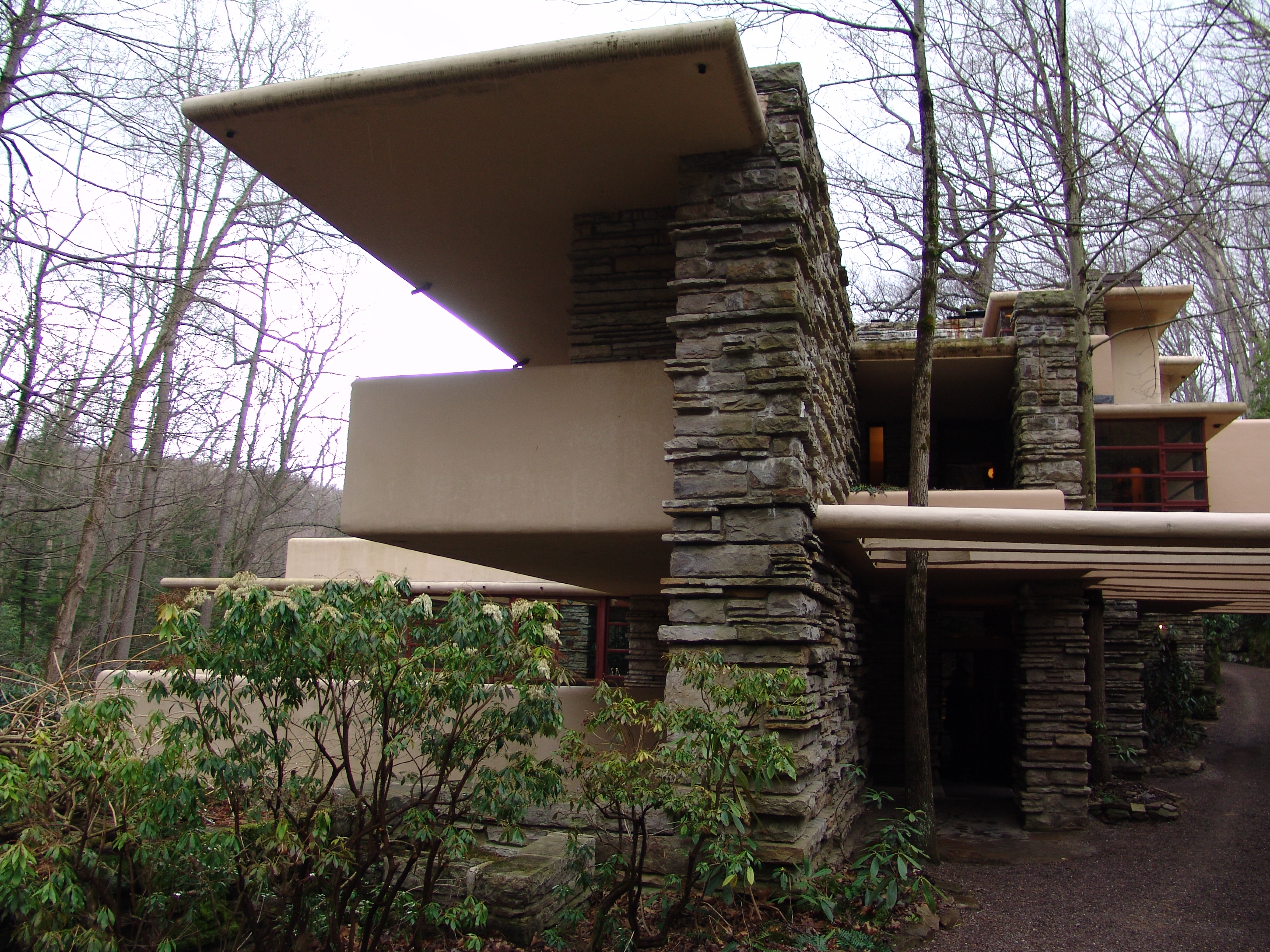 Kaufmann House Above Waterfall Frank Lloyd Wright Architect