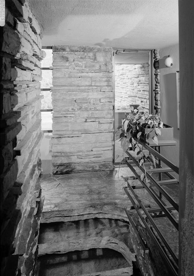[Second Floor Stair Landing, From Hallway Facing East, Fallingwater]