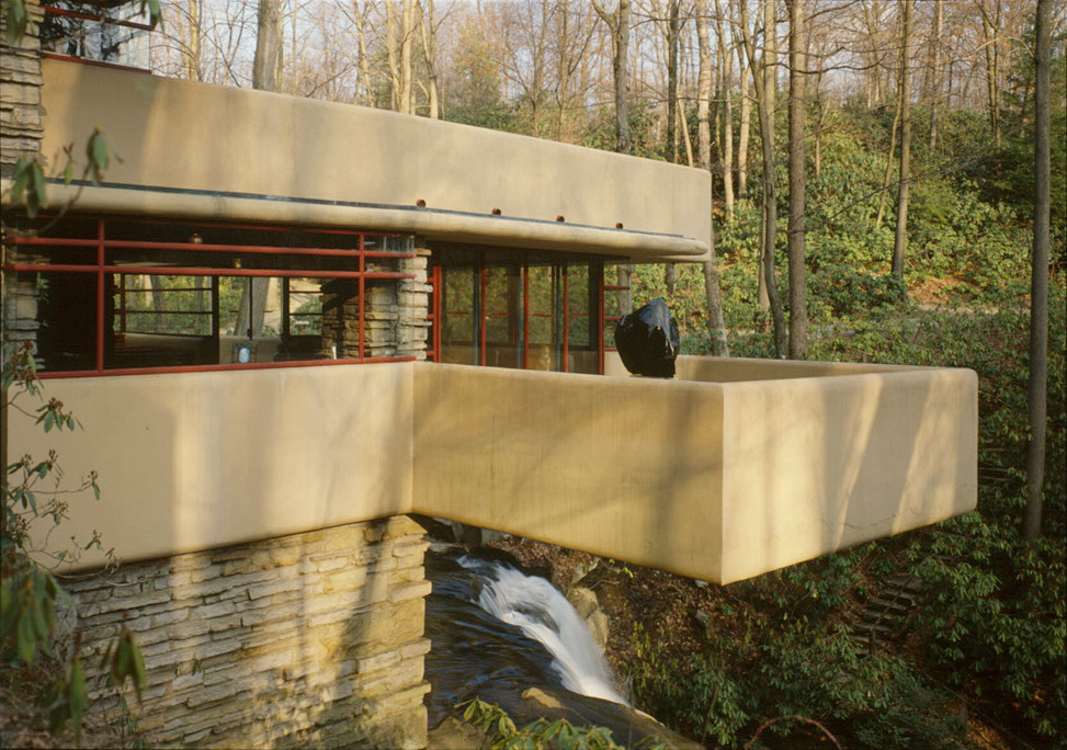 Fallingwater Pictures Southwest Terrace Over Waterfall