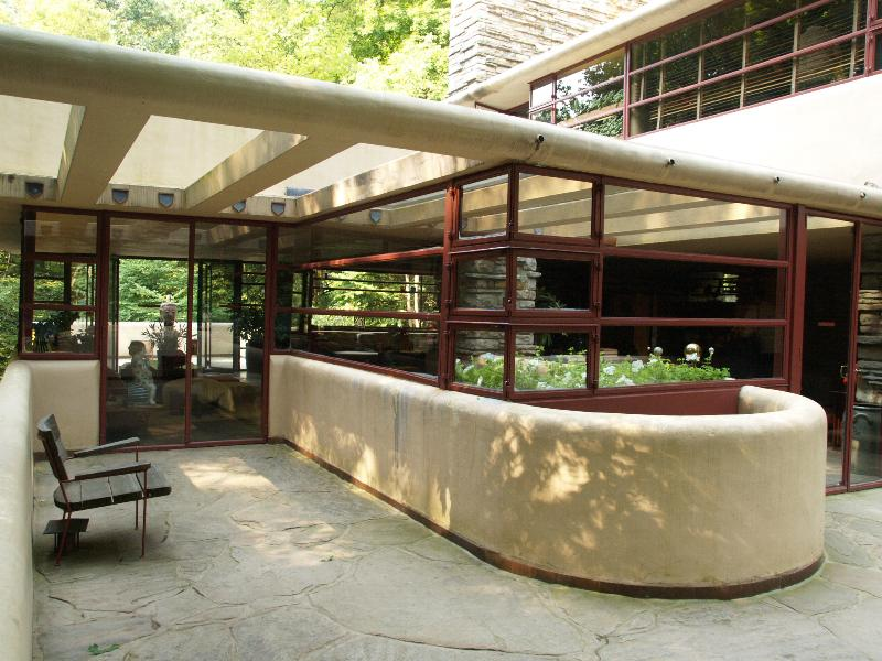 Fallingwater Pictures Living Room From Entrance Frank
