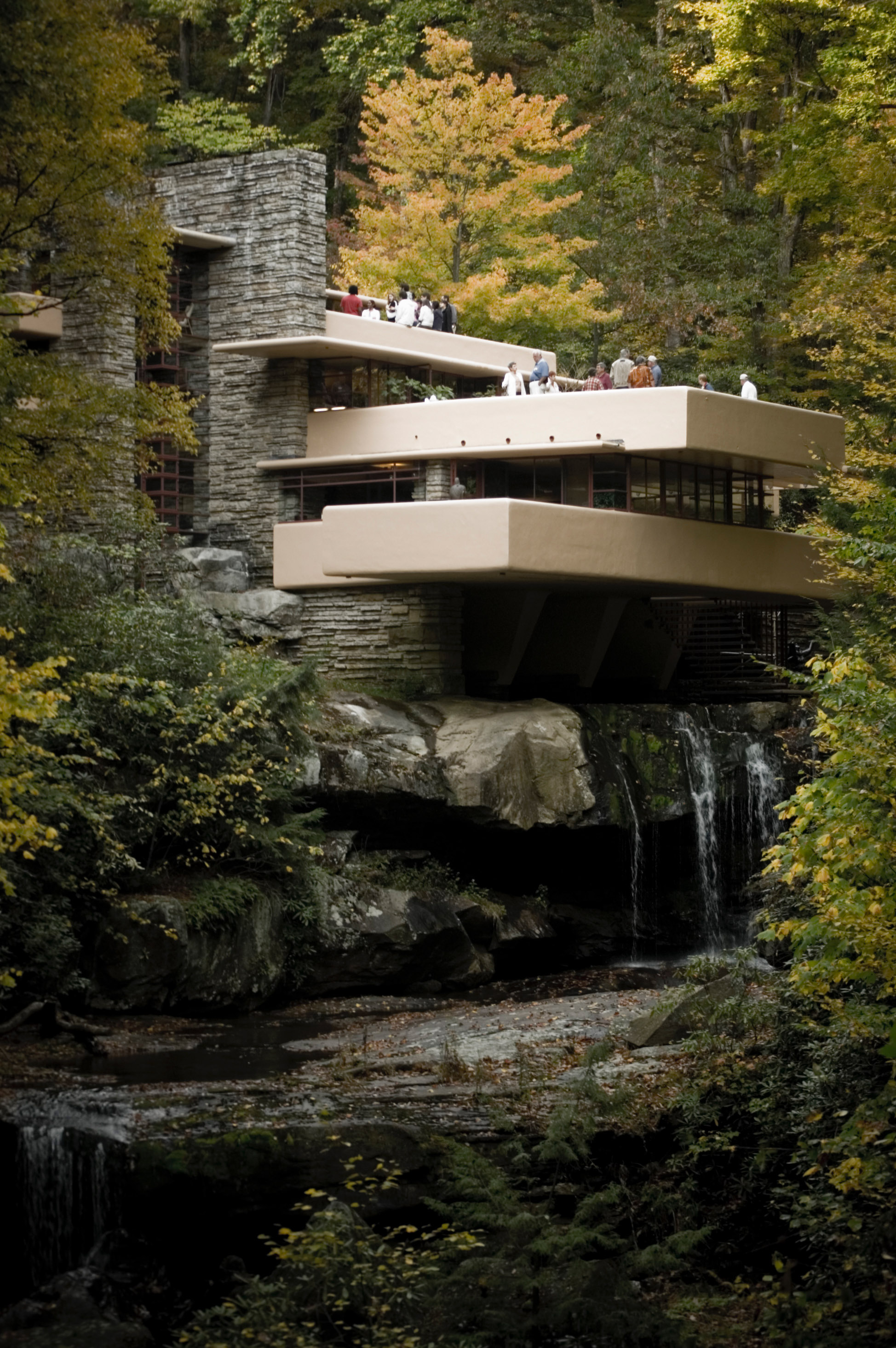 Large Photographs Of Fallingwater Kaufmann House Above