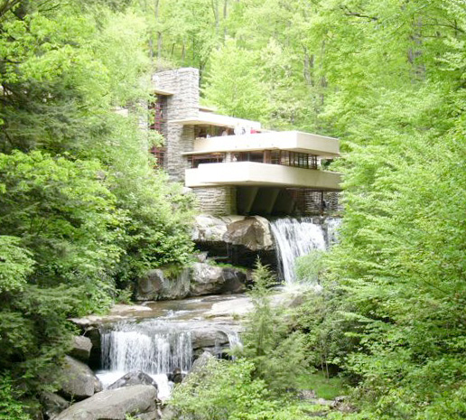 """Fallingwater pictures: """"forest"""" view showing two ..."""