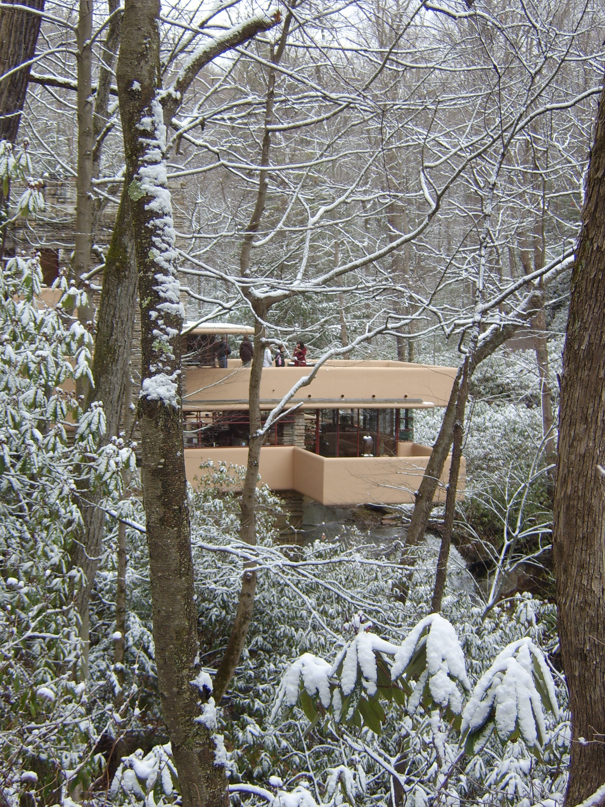 Fallingwater Pictures Winter Photos Of House On Waterfall